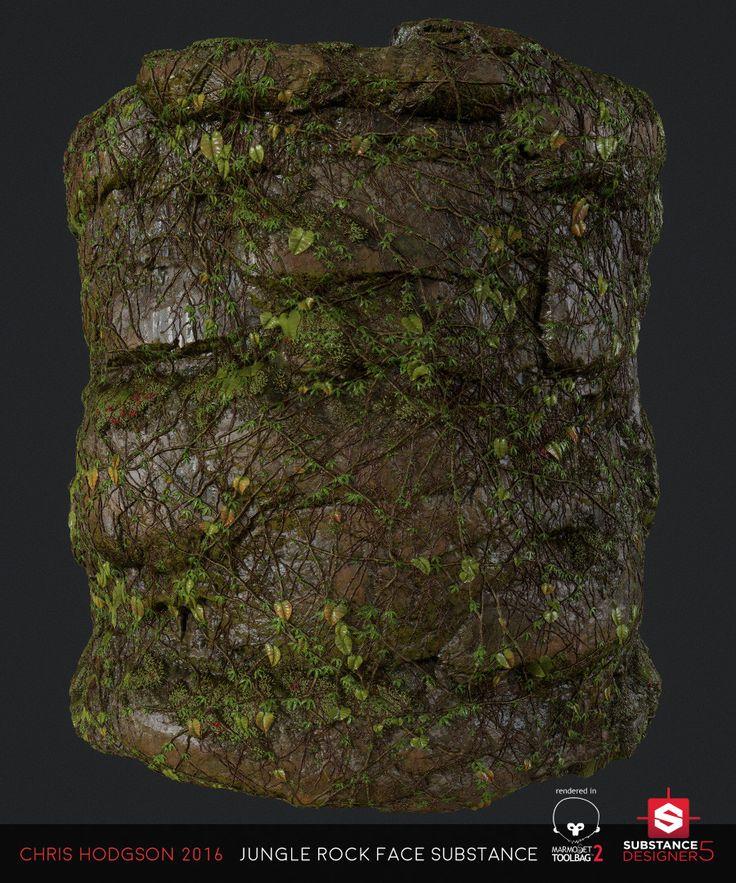 ArtStation - Jungle Rock Face / Substance Designer, Chris Hodgson