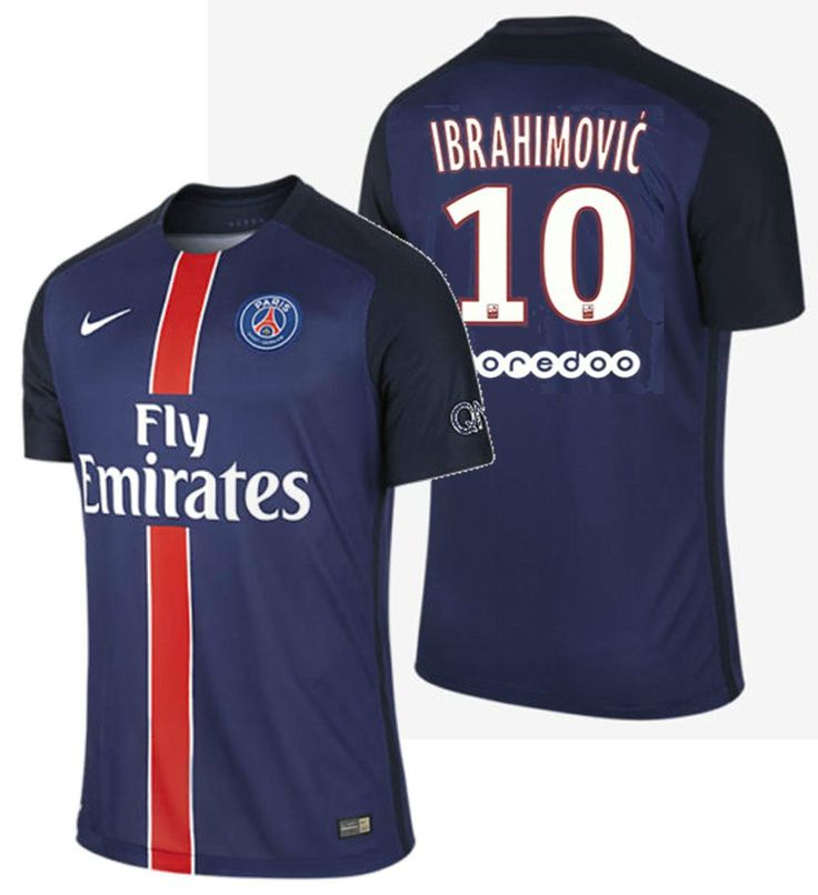2e492d147 ... Nike z. ibrahimovic paris saint-germain psg authentic home match jersey  201516 ...