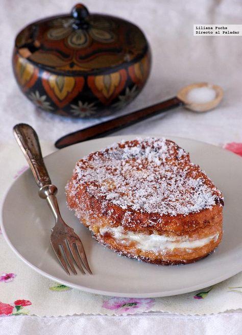Directo al Paladar - Torrijas rellenas de crema de queso. Receta de Semana Santa