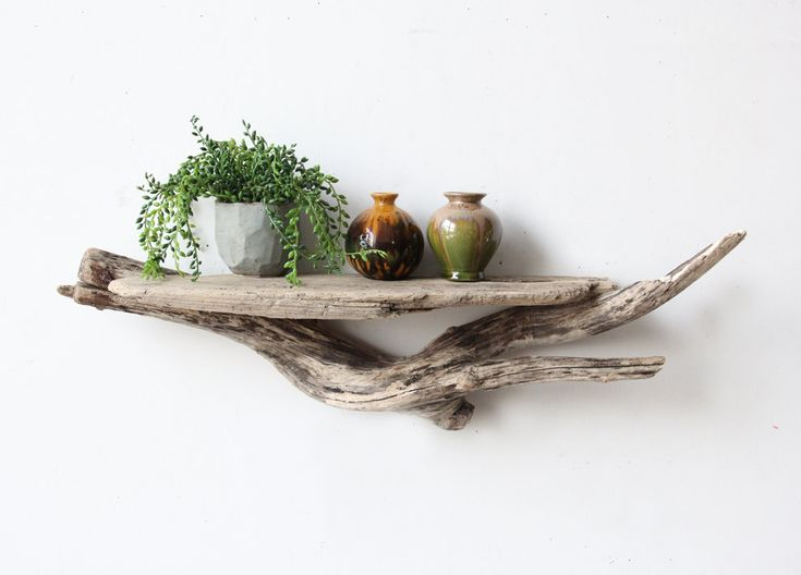 Large Sculptural Natural Driftwood Shelf by OceanSwept on Etsy, $68.00 I feel the need to go beach combing for driftwood! I love the look and feeling of this piece!