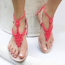 Resultado de imagen de patron sandalias macramé