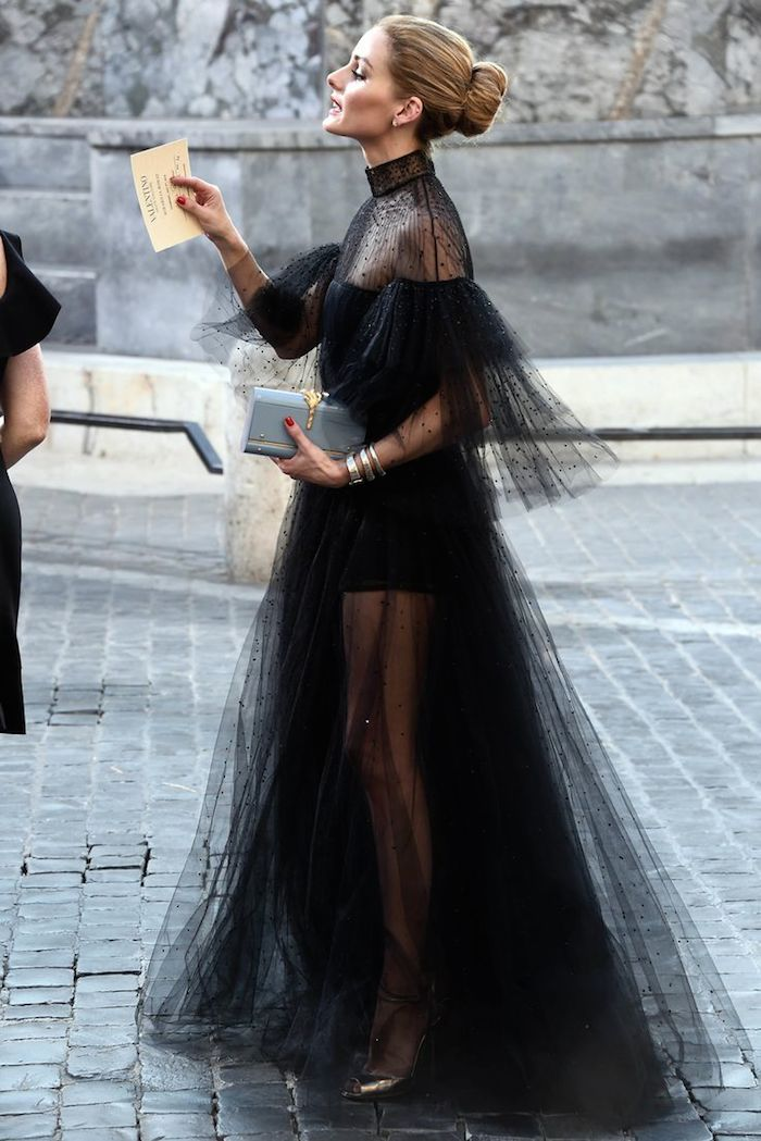 Olivia Palermo like a black swan ,so poetic the dress !