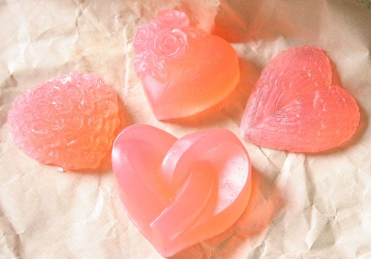 Aromatherapy Oil- 4 Pastel Pink - Hearts of Glass Collection Soaps- Large