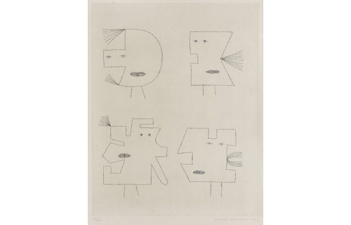 Victor Brauner Codex  [1962]  Aquafort 47 × 36 cm (18.5 × 14.2 inch) Estimate €1,000 - €2,000  http://lavacow.com/codex-114.html