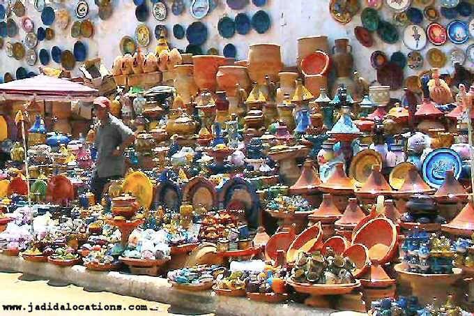 Souk poteries El Jadida Maroc