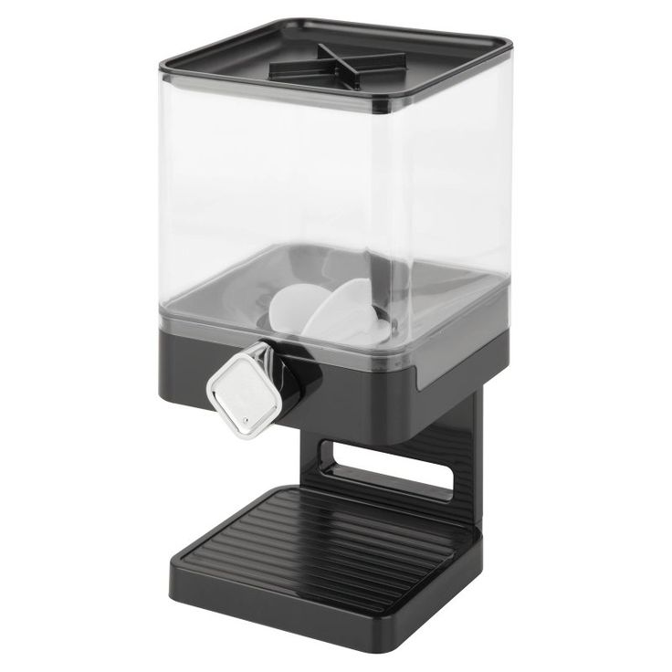 Honey Can Do Compact Edition Dispenser Black/Chrome - KCH-06127