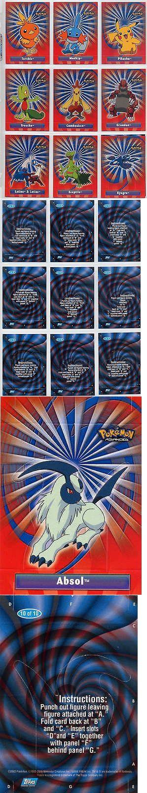 Pok mon Complete Sets 104046: Complete Topps Pokemon Advanced Insert Set! New 10 Card Pop-Up Set! L@@K! -> BUY IT NOW ONLY: $31.79 on eBay!