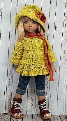 liking the style of this top and hat #dressadoll #dolls #clothes | muñecos de tela | Шляпки Под Платье, Куклы и Желтый Свитер