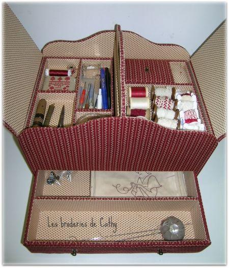 La boite à couture de Cathy - Photo de Cartonnage - Atelier Patchwork et Point Compté