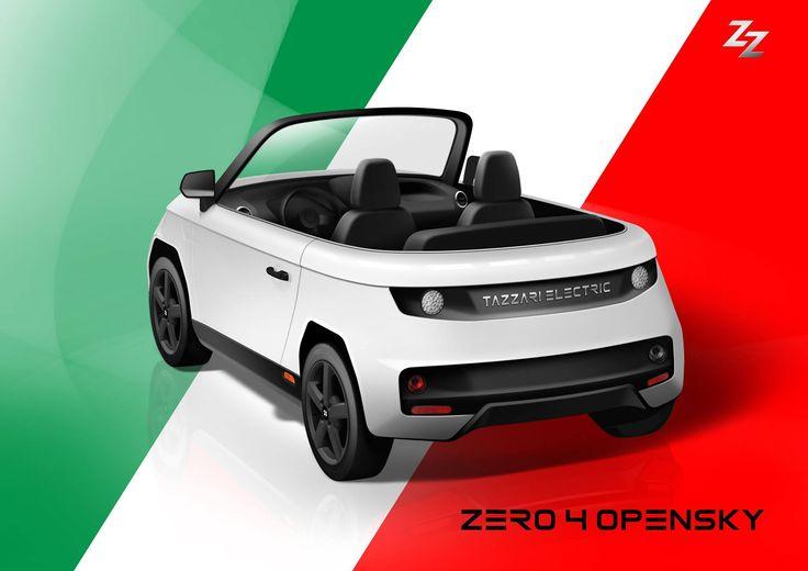 PREVIEW 2017: CONCEPT ZERO 4 OPENSKY #tazzariev #tazzari #zero #tazzarizero #electriccar #EVs #madeinitaly #concept #imola #cabrio #roadster #fourseater #electric #zeroemission #citycar #ZZ