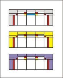 glas in lood ontwerp bovenlichten III