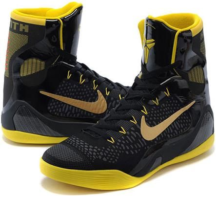 kobe 9 elite high black and gold