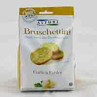 Snack size Italian bruschetta toasts are baked using unbleached flour and the highest quality extra virgin olive oil. Contains garlic and parsley. From Italy.