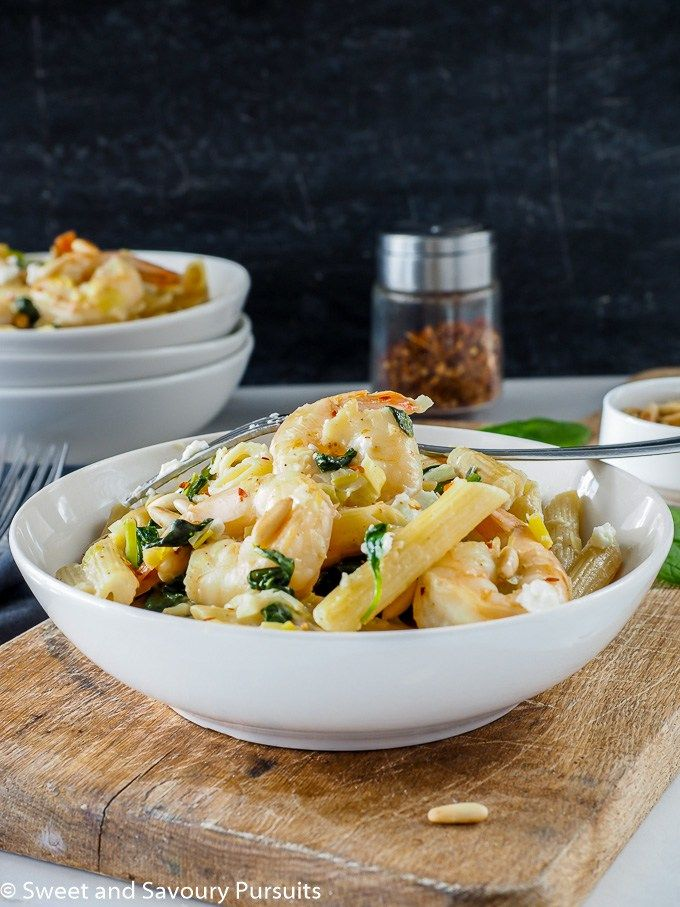 Penne, Goat cheese and Shrimp on Pinterest