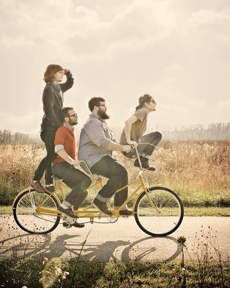 greatest band photo I've seen in a while! So quirky lol