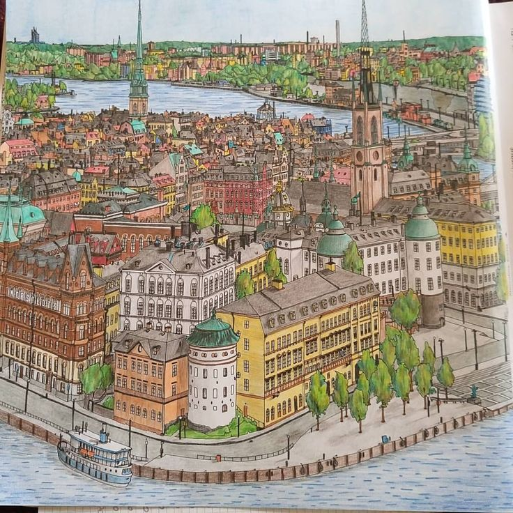 331 Best Fantastic Cities Coloring Images On Pinterest