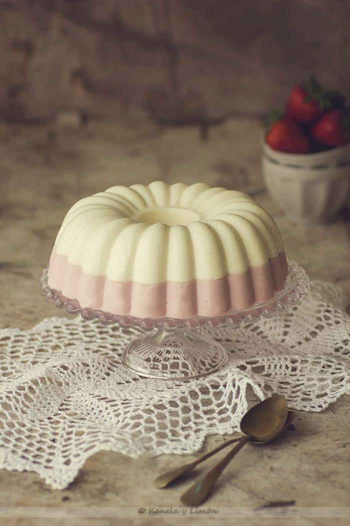 Pastel de fresas con nata