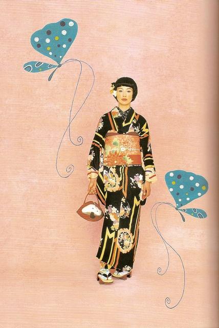 Kimono-hime issue 1. Fashion shoot page 3 by Satomi Grim, via Flickr
