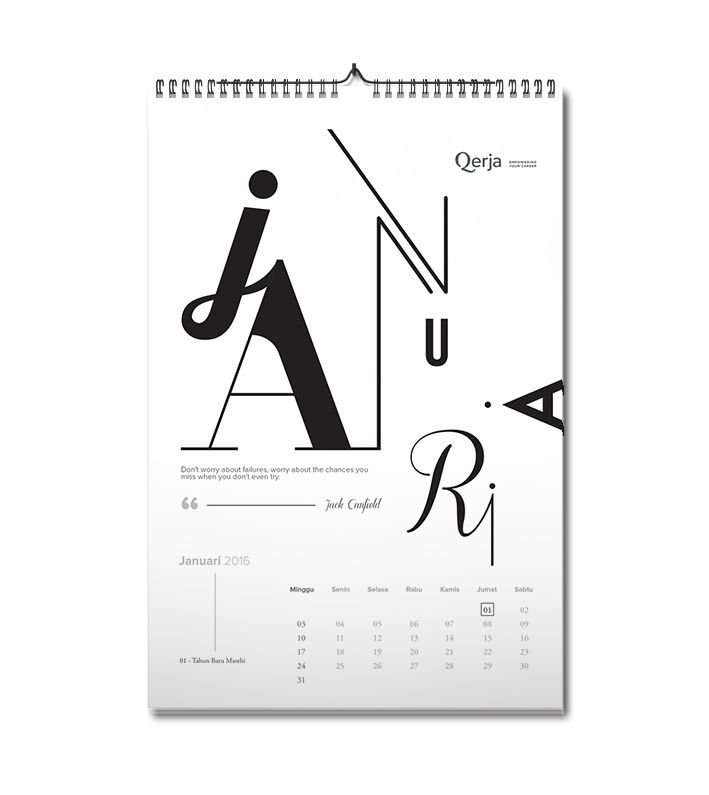 2016 Calendar on Behance