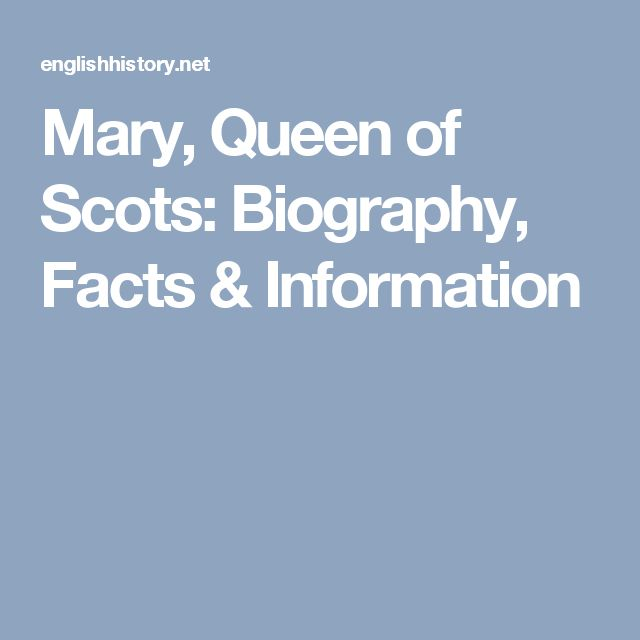an introduction to the life and history of mary the queen of scots A new festival to mark the life of mary queen of scots has been announced on the anniversary of her audacious escape from lochleven castle the event will be held in kinross on september 2 and 3.