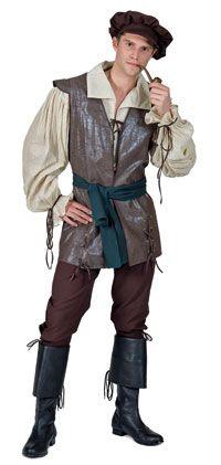 Camponês Medieval Adulto fantasia - trajes Medievais