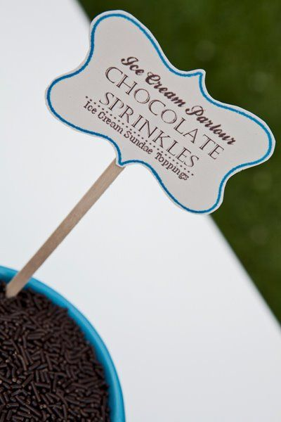 Ice Cream Bar Stationary by les invitations Paper Candy ©les invitations Paper Candy Wedding Designed by Maddy K