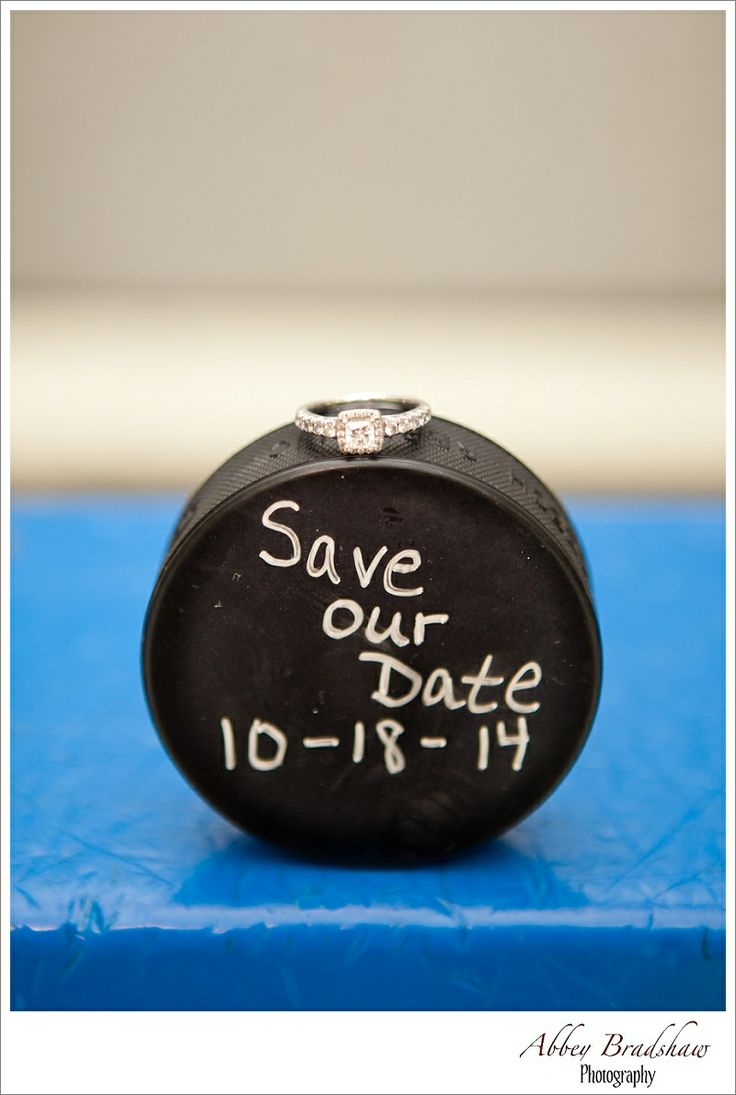 "Do you have a puck that we could write ""Mr and Mrs. Bertin and the date on it?  I can put all 3 rings on top."