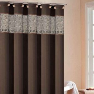 Splash Home Royal Court Brown Shower Curtain