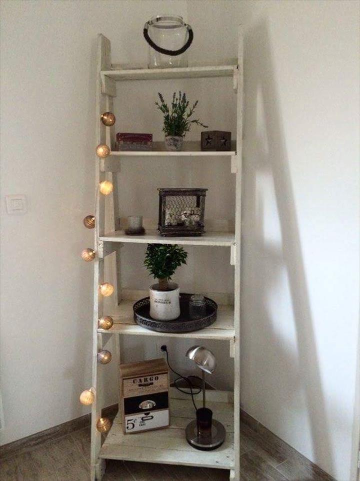 Pallet Stair Style Display Unit - 150+ Wonderful Pallet Furniture Ideas | 101 Pallet Ideas - Part 2