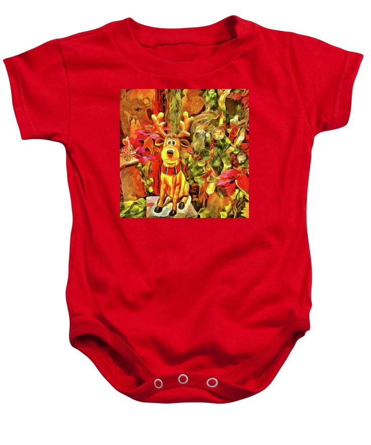 Purchase a baby onesie featuring the image of Moose On The Loose by Leslie Montgomery.  Available in sizes S - XL.  Each onesie is printed on-demand, ships within 1 - 2 business days, and comes with a 30-day money-back guarantee.