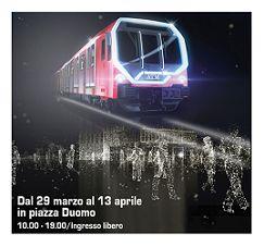 In Piazza Duomo i nuovi treni della metropolitana