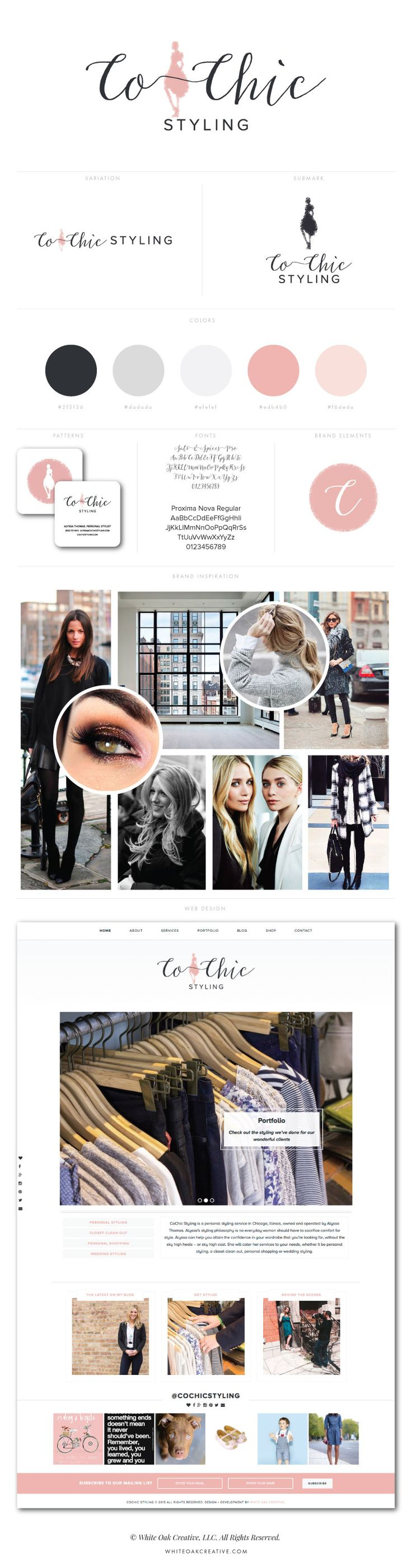 branding and web design for stylist - graphic design, mood board inspiration, web designer, blog design, logo identity, brand strategy, branding