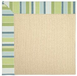 Give a vacation vibe to any space with this indoor/outdoor boarder rug - beach sisal paired with capri stripe in breeze.: Beach House, Breeze Area, 430 Area, Area Rugs, Presents Rugstudio, Beachy Rugs, Breeze 430, Capel Rugs