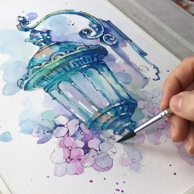 Watercolor Art Svetlanaeremeeva Art V Instagram Art