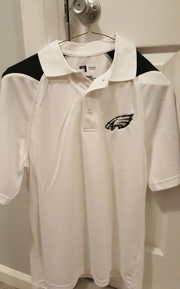 a16153d23 NWT White Philadelphia Eagles Polo Small Men NFL Wentz Dri-Fit Golf ...