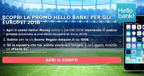 Hello bank! Approfitta subito di questa promozione! Disponibilità limitata.