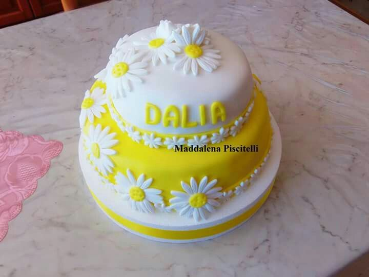Torta 30° compleanno margherite