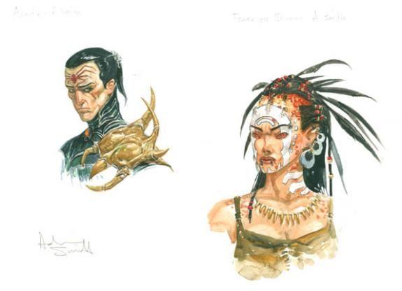 Adrian Smith - Ubisoft, Arantir + female orc shaman
