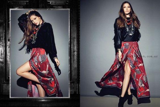falda larga Rapsodia otoño invierno 2015: