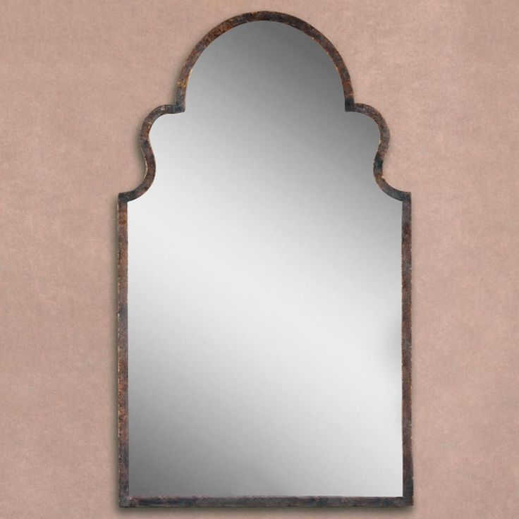 Shapely Silhouette Metal Mirror