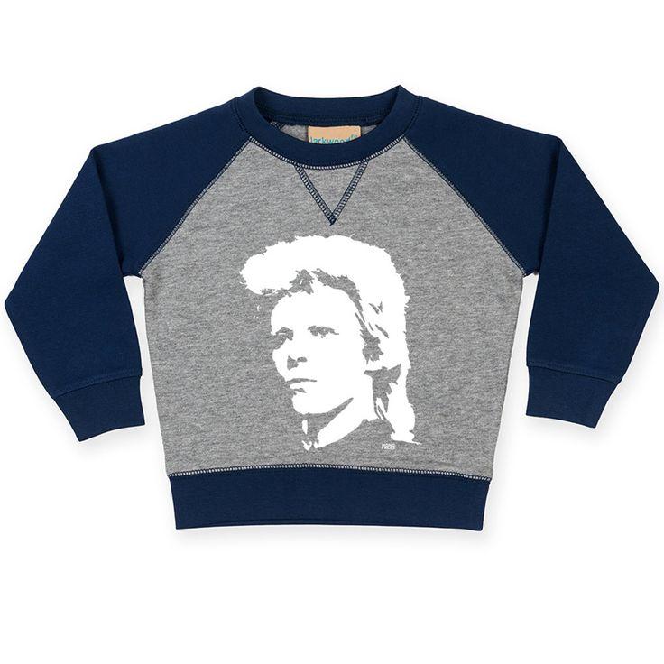David Bowie Baby Sweatshirt, Bowie Toddler Sweater, Rock Baby Clothes, Rock Birthday Party, Ziggy Stardust, Custom Toddler Raglan Sweatshirt by MONOFACESoCHILDREN on Etsy