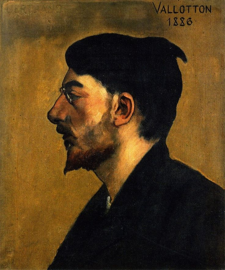 peira:    Felix Vallotton:  Portrait of Emile Bertrand (1886) via The Athenaeum