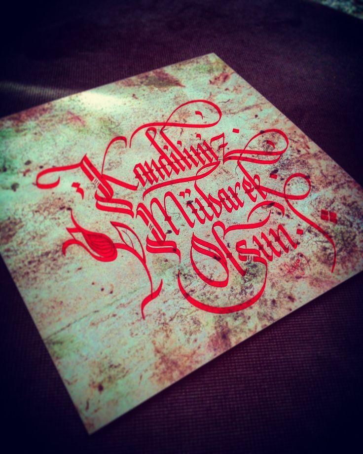 #regaip #kandiliniz #mübarek #olsun #rayan #kaligrafi #kalligraphie #kalligrafie #calligraphy #hat  www.rayankalligraphie.de