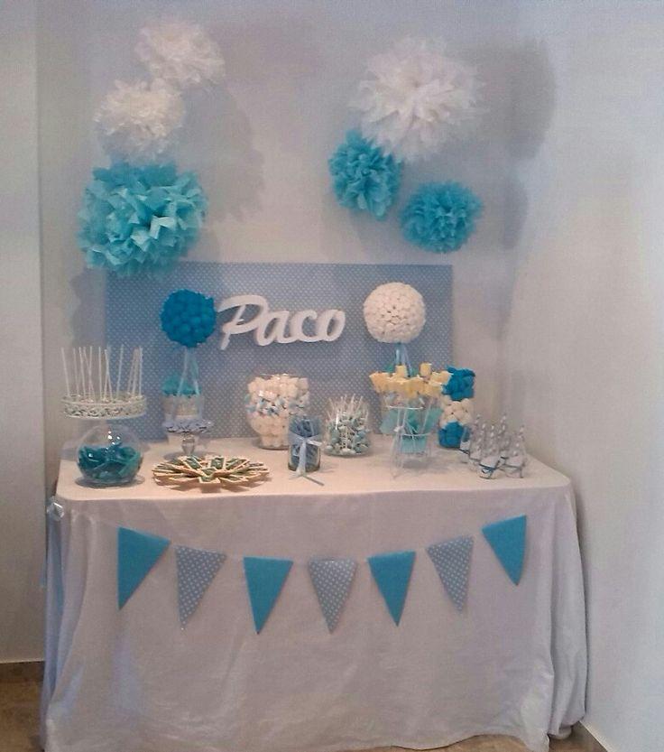 Las 25 mejores ideas sobre mesas dulces comunion en - Como hacer centros de mesa con dulces para bautizo ...