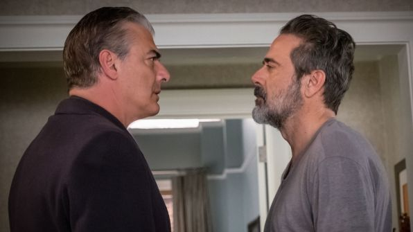 Chris Noth as Peter Florrick and Jeffrey Dean Morgan as Jason Crouse - THE GOOD WIFE