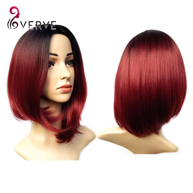 ombre synthetic wigs burgundy bob wigs cheap synthetic sexy female short haircut wigs best natural looking women wigs cosplay