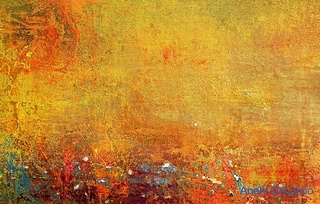 orange abstract painting from Flickr