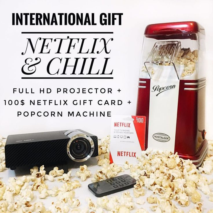 INTERNATIONAL GIFT  I've partnered with my favourite bloggers to give one lucky winner an international gift! With a Full HD Projector 100$ Netflix Gift card and Popcorn Machine you will be ready to have a movie party!!  To Enter To Win:  FOLLOW ME.  LIKE this picture.  GO TO @thepullco and REPEAT steps until you come back to me or the account you started with and leave a comment to say you are DONE.  .  If you want a DOUBLE chance at winning tag friends in the comment section / like the 3…