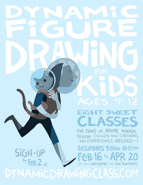 Figure Drawing Class for Kids Poster by addtadd, via Flickr.  I like the font.