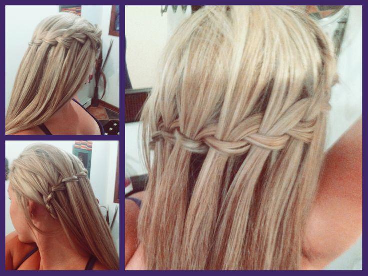 Hair - Waterfall braid. Fast N Easy!